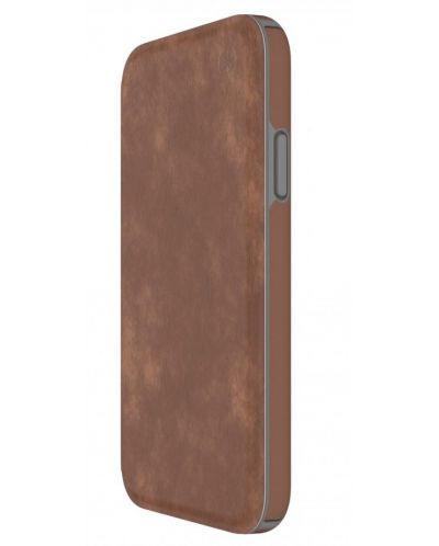 Калъф Speck Presidio Folio - за iPhone X, кожен, кафяв/сив - 3