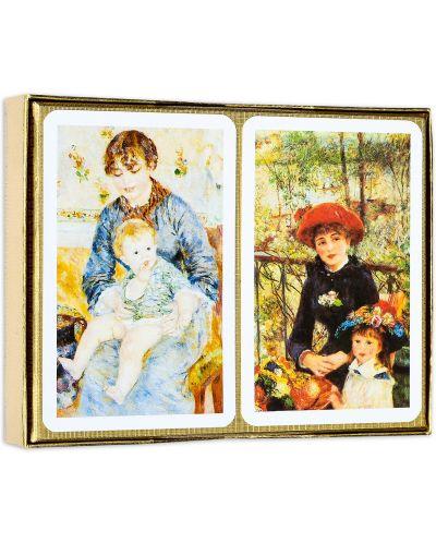 Карти за игра Piatnik - Renoir - Red hat (2 тестета) - 2