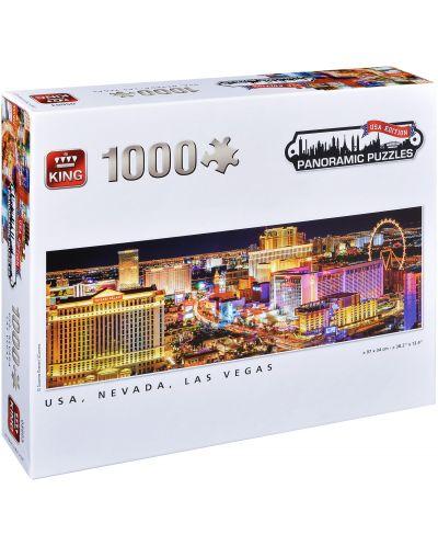 Панорамен пъзел King от 1000 части - Невада, Лас Вегас, Сузане Кремер - 1
