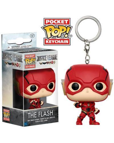 Ключодържател Funko Pocket Pop! DC Justice League - The Flash, 4 cm - 2