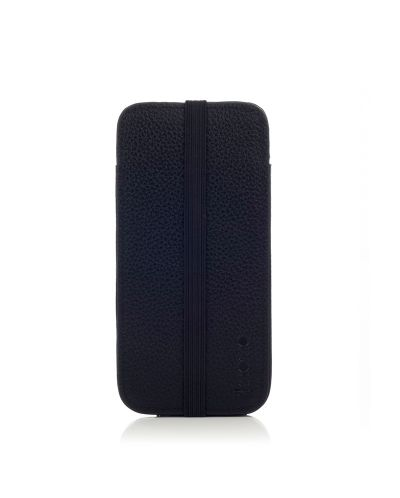 Knomo Leather Sleeve Elastic за iPhone 5 -  черен - 5