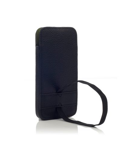 Knomo Leather Sleeve Elastic за iPhone 5 -  черен - 3