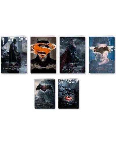 Комплект от 10 двулицеви тетрадки Batman - A4, 42 листа, широки редове - 2