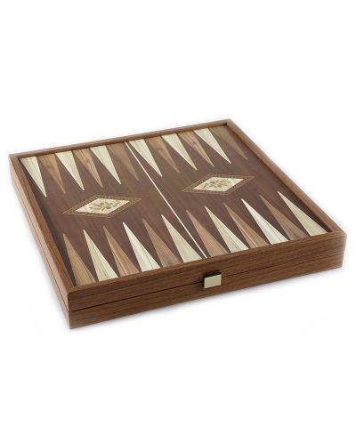 Комплект шах и табла Manopoulos - Цвят орех, 41 x 41 cm - 5