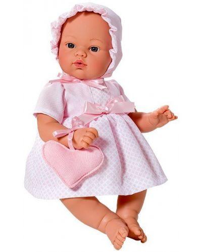 Кукла Asi - Бебе Коке, с розова рокля и чантичка - 1