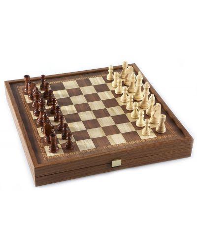Комплект шах и табла Manopoulos - Цвят орех, 41 x 41 cm - 2
