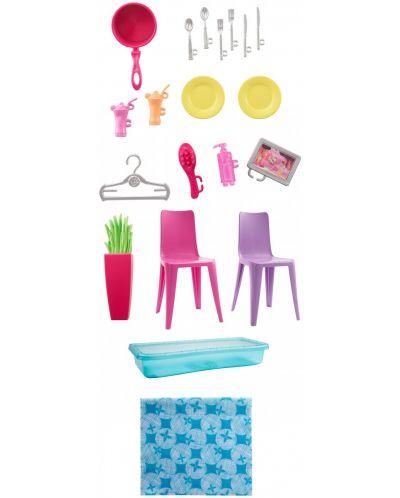 Игрален комплект Mattel Barbie - Къща за кукли - 3