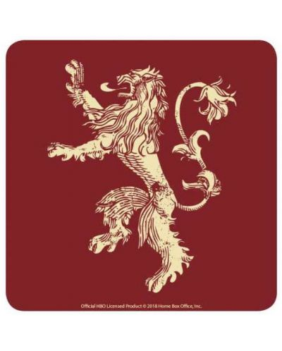 Подложки за чаши Half Moon Bay - Game of Thrones: Lannister, 6 броя - 1