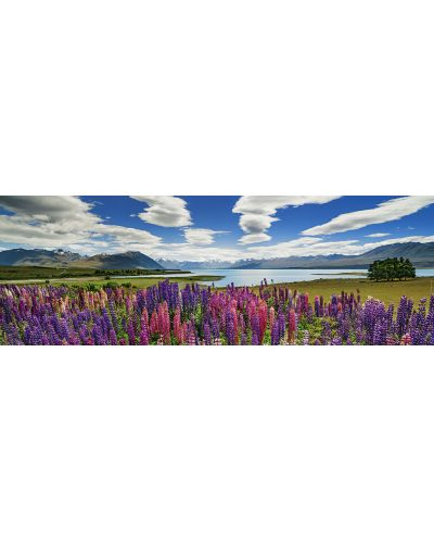 Панорамен пъзел Heye от 1000 части - Езерото Текапо - 2