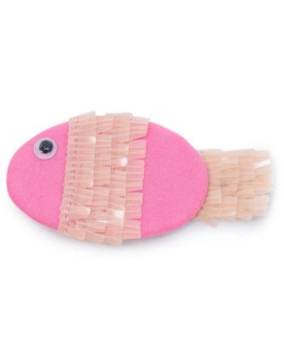 Плюшена играчка Budi Basa - Коте Ли-Ли бебе, с розова рибка, 20 cm - 3