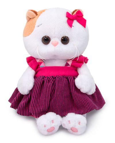 Плюшена играчка Budi Basa - Коте Ли-Ли бебе, в сукманче, 20 cm - 1