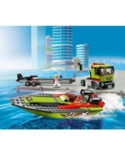 Конструктор Lego City Great Vehicles - Транспортьор на състезателни лодки (60254) - 7