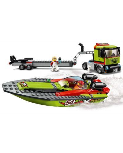 Конструктор Lego City Great Vehicles - Транспортьор на състезателни лодки (60254) - 4