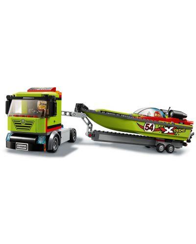 Конструктор Lego City Great Vehicles - Транспортьор на състезателни лодки (60254) - 6