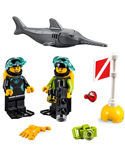 Конструктор Lego City - Яхта за гмуркане (60221) - 9