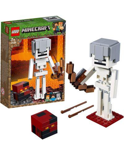 Конструктор Lego Minecraft - Голяма фигурка скелет с куб от магма (21150) - 4