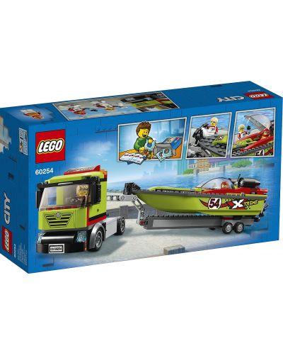 Конструктор Lego City Great Vehicles - Транспортьор на състезателни лодки (60254) - 2
