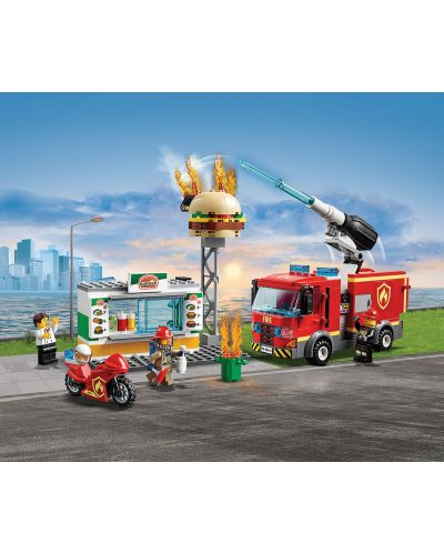 Конструктор Lego City - Спасителна акция от пожар в бургер бар (60214) - 4