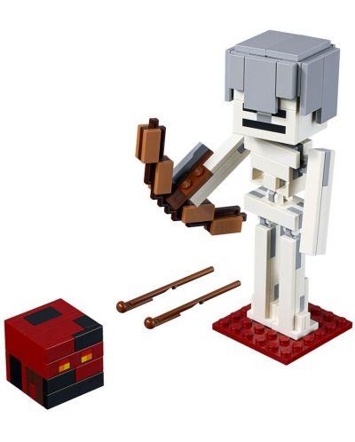 Конструктор Lego Minecraft - Голяма фигурка скелет с куб от магма (21150) - 5