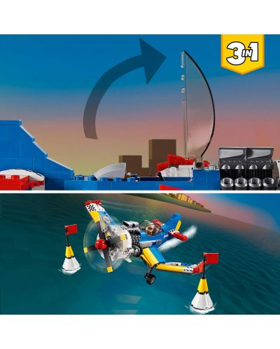 Конструктор 3 в 1 Lego Creator - Състезателен самолет (31094) - 4