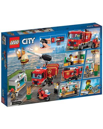 Конструктор Lego City - Спасителна акция от пожар в бургер бар (60214) - 6