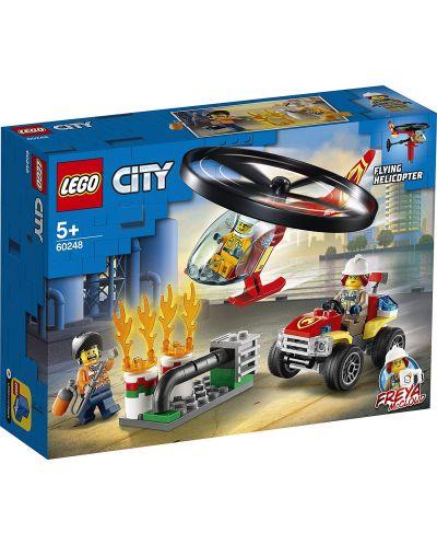 Конструктор Lego City Fire - Реакция с пожарен хеликоптер (60248) - 1