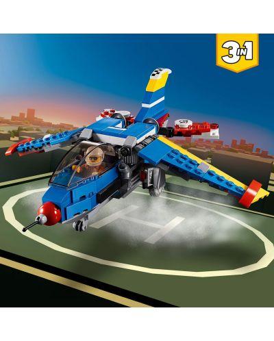 Конструктор 3 в 1 Lego Creator - Състезателен самолет (31094) - 1