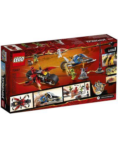 Конструктор Lego Ninjago - Мотоциклетът на Kai и снегомобилът на Zane (70667) - 8