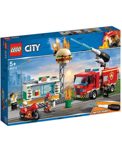 Конструктор Lego City - Спасителна акция от пожар в бургер бар (60214) - 7