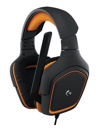 Гейминг слушалки Logitech G231 Prodigy - черни/оранжеви - 1
