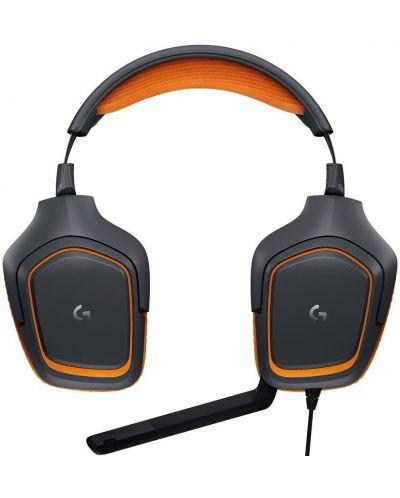 Гейминг слушалки Logitech G231 Prodigy - черни/оранжеви - 2