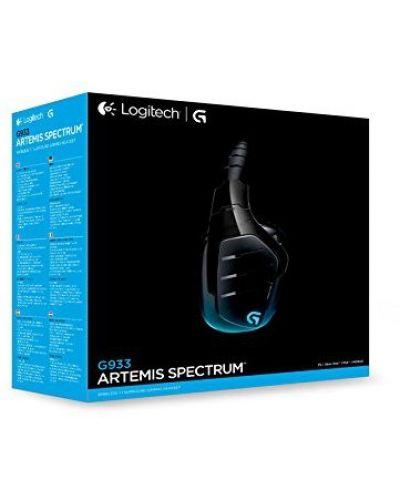 Гейминг слушалки Logitech G933 Artemis Spectrum - 7.1 Surround, безжични, черни - 7