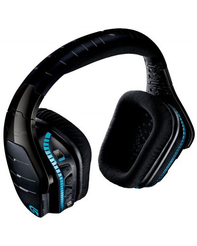 Гейминг слушалки Logitech G933 Artemis Spectrum - 7.1 Surround, безжични, черни - 5