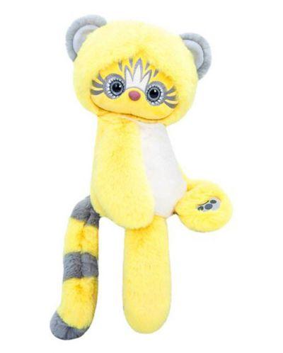 Плюшена играчка Budi Basa Lori Colori  - Ейка, в жълт цвят, 30 cm - 3
