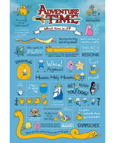 Макси плакат Pyramid - Adventure Time (Infographic) - 1