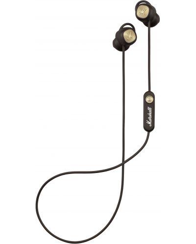 Слушалки с микрофон Marshall Minor II - безжични, кафяви - 2