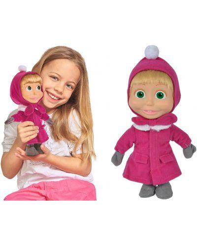 Кукла Simba Toys Маша и мечока - Маша, със зимна премяна, 23 cm - 2