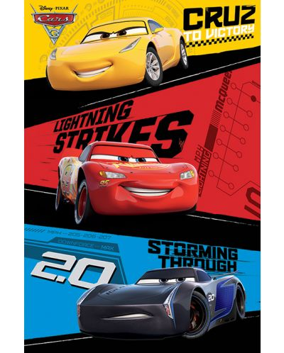 Макси плакат Pyramid - Cars 3 (Trio) - 1