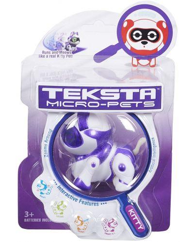 Интерактивна играчка Manley TEKSTA Micro Pets - Робот, Коте - 7