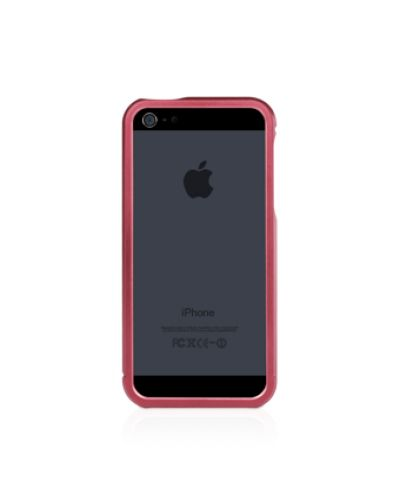 Macally Aluminium Frame за iPhone 5 -  червен - 5