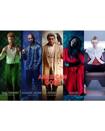 Макси плакат Pyramid - American Gods (Collage) - 1