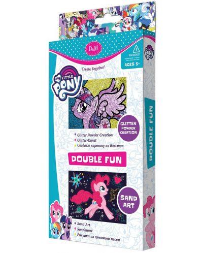 Творчески комплект Revontuli Toys Oy - Картини с пясък и блясък, двоен, Моето малко пони - 1
