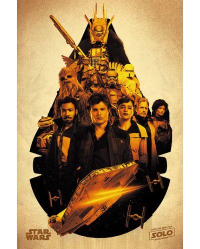 Макси плакат Pyramid - Solo: A Star Wars Story (Millennium Falcon Montage) - 1