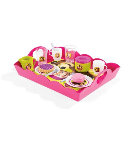 Комплект Smoby за детско чаено парти - Маша и Мечока - 2
