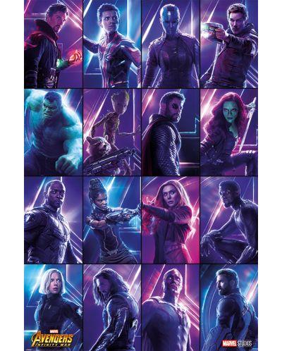Макси плакат Pyramid - Avengers: Infinity War (Heroes) - 1