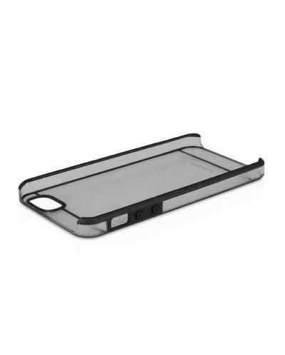 Macally See-Thru Hard Shell Case  за iPhone 5 -  черен-прозрачен - 6