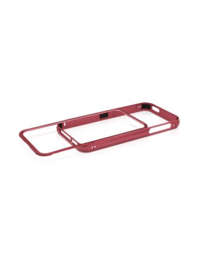 Macally Aluminium Frame за iPhone 5 -  червен - 2