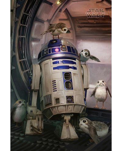 Макси плакат Pyramid - Star Wars The Last Jedi (R2-D2 & Porgs) - 1