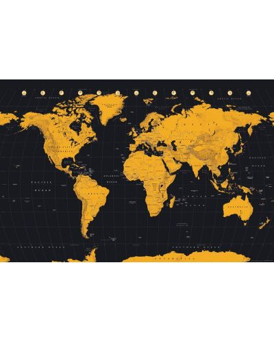 Макси плакат GB Eye World Map - Gold - 1