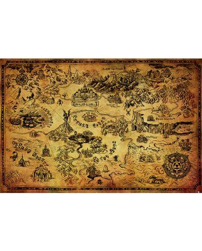 Макси плакат Pyramid - The Legend Of Zelda (Hyrule Map) - 1
